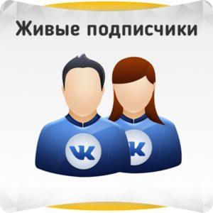Живые подписчики в группу ВКонтакте